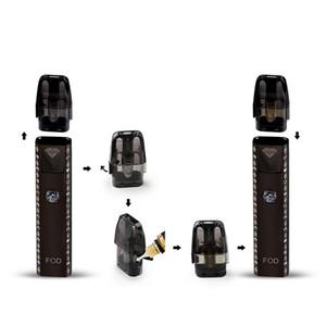 refillable 2ml empty pod vaporizer FOD starter kit diamond vape pen vaporizer 580mah battery 1.0ohm DHL free shipping