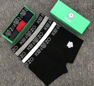 2020 Rastgele Renk Ethika Erkek Boksörler Erkek Tasarımcı Underwears Nefes Pamuk Boksörler Külotlar Erkekler Külot Hızlı Kuru Boyut M -XXL