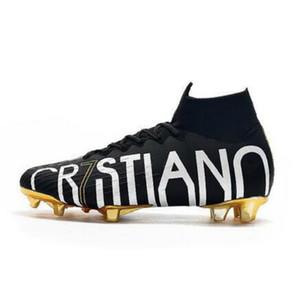 2020 Ucuz CR7 SE Elite KJ VI 360 FG Futbol Ayakkabı Futbol Boots Mercurial Superfly 6 LVL UP Cristiano Ronaldo Erkekler Top Futbol Profilli