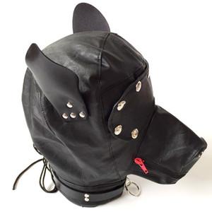 Slave Restraint Hood Black Head Mask BDSM for Couples Sex Products