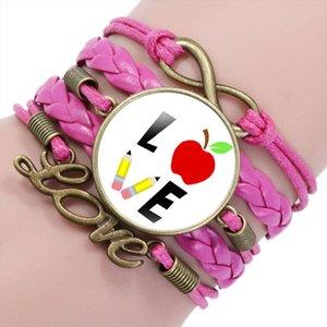 Piace insegnare fascino braccialetti di cuoio dell'involucro dei braccialetti per le donne gli uomini Maestro Planner Assistant Teachers Bracciale regalo