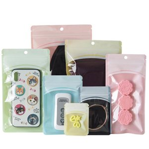 Luxury Grace Colorful Clear Plastic Zipper lock Display Package Bag Pouch For Candy Ornaments Phone Case Cover Retail Bag