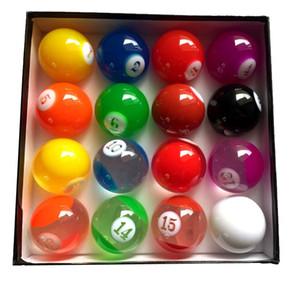 bilardo xmlivet Komple Set Şeffaf Renkli Bilardo topları 57.25mm Uluslararası Standart Havuz oyunu topları Reçine