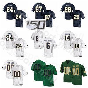 NCAA Notre Dame Fighting Irish College Football 87 Michael Mayer Jersey 24 Tiembla 14 Kyle Hamilton 6 Jeremías Owusu-Koramoah 28 Tariq Bracy