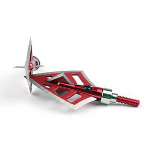 Areyourshop Academia 3/6 / 12pcs 125 Grain caça Broadheads 4 Lâmina Seta Heads Archery pontas vermelhas ferramentas de esportes Acessórios Peças