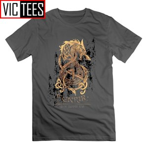 Viking The Nordic Monster Wolf Odin Valhalla T Shirt Short Sleeves Tees T-Shirts 100% Cotton Vintage Tops for Men 200928