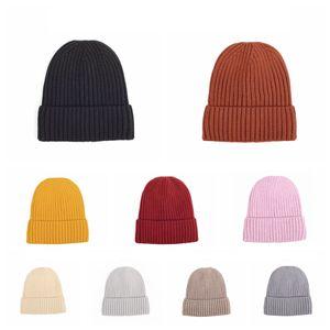 Lana lavorato a maglia Cappellino invernale cappello caldo Con marea e velluto spesso cappello caldo solido Forniture uomini di colore e di cappelli Baotou Cap partito delle donne RRA3716