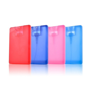 20ml Plastic Spray Bottle Credit Card Shape Pocket Size Flat Spray Bottle For Perfume Empty Mist Sprayer Bottles Hand Sprays