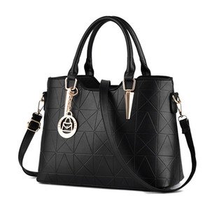 HBP New Fashion Women Bag PU Leather Bag Large Capacity Shoulder Bags Casual Tote Simple Top-handle HandBags