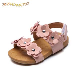 JgshowKito Baby Girl Sandali mediocre per bambini con floreali Sweet Princess Sandali da spiaggia per bambini Sandali per bambini taglia 21-30 Q0113