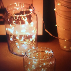 LED lights string 1M 2M 3M Copper Silver Wire Lights Battery Fairy light For Christmas Halloween Home Party Wedding Party Decoration OWD2248