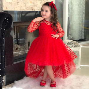 2021 Flower Girls Dresses 3D Flower Long Sleeve Kids Teens Pageant Gowns Birthday Party Dress For Wedding Cooktail Gown
