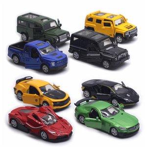 Diecast Maßstab 1:60 Pull Back-Legierung Spielzeug-Auto-Modell Metall Simulation SUV Sport Rennwagen-Modell Set Kinder Heiße Verkäufe Spielzeug für Jungen LJ200930