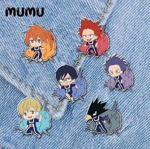 2020 New My Hero Academia Anime Lapel Pin Izuku Midoriya Katsuki Acrylic Brooch Handmade Epoxy Pins Jewelry For Shirt Bag Badge