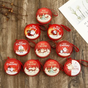 Weihnachten Kinder kreative Aufbewahrungstasche Weihnachtsdekoration Cartoon Beutel Runde Fall Arten Weihnachtsnetz rot gleichen Geschenkbeutel Geldbörse
