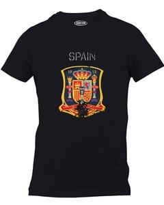 Engraçado novo fresco verão camisetas Espanha T-shirt Soccers Futebolista Distressed Logo T-shirt do esporte moletom com capuz Hoodie