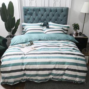 Bedding Set Mediterranean Style Bed Set Luxury Cotton Bed Sheet Queen King Size Duvet Cover Blue Linen 3 styles