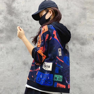 VIPclothing, Max Lulú, Corea moda otoño, ropa punk, sudaderas impresas de las mujeres sudaderas impresas ocasionales MVP