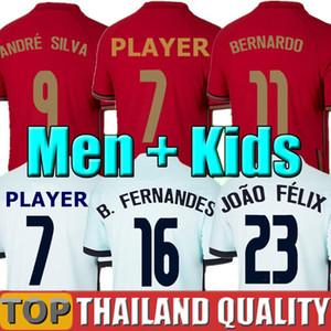 2020 Portogallo maglie da calcio RONALDO JOAO FELIX NEVES BERNARDO CANCELO RUBEN NEVES 2021 squadra nazionale maglia da calcio 20 21 Ma Donne Kit per bambini uniforme