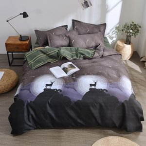 Fashion Brand Coffee Letter Printed Bedding Set Bed Linen Set Include Duvet Cover Bed Sheet Pillowcase Twin Full Queen King Size