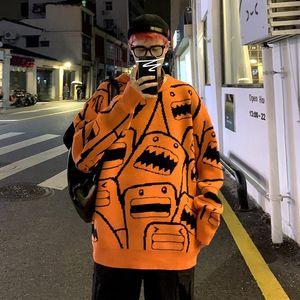 Zazomde hombres jerseys suéter otoño invierno macho japón corea calle streetwear juventual moda casual hip hop par de pareja suéter 201125