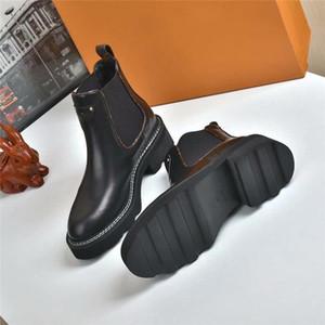 Botas botines nuevo de las mujeres BEAUBOURG Mujeres Moda Martin botas de cuero del diseñador de invierno de calidad superior con la caja Tamaño 35-42