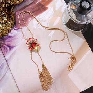 Gioielli in stile cinese Pechino Maschera per la maschera della maschera femminile femminile di metallo lungo nappe del metallo retrò Maglione del maglione della catena dei regali da donna 5371