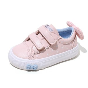 Babaya Baby Shoes Girls1-3 Years Old Soft Bottom Children Casual Shoes Toddler White Girls Sneakers Bow 2020 Autumn New