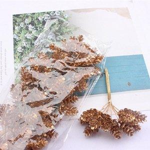100PCS 인공 꽃 크리스마스 가짜 꽃 결혼식 신부의 액세서리 DIY 선물 상자 시뮬레이션 공장