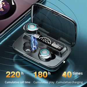 Toque sem fio bluetooth fones de ouvido tws v5.1 fones de ouvido estéreo m17 fones de ouvido bluetooth sem fio bluetooth para todos os fone de ouvido preto do telefone inteligente