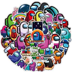 50шт / Set Мультфильмы Среди ноутбуков с нами Наклейки игры Аниме наклейки Скейтборд Гитара Велосипед автомобиль Kawaii Детские Водонепроницаемые наклейки игрушки DHL Free