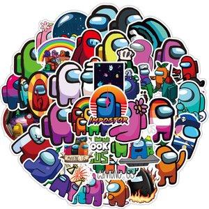 Мультфильмы Велосипед Среди Стикеры нас игры Водонепроницаемые ноутбуков 50шт Free Kawaii гитары / Set автомобиля скейтборд Дети Аниме наклейки игрушки DHL Stike Аиро