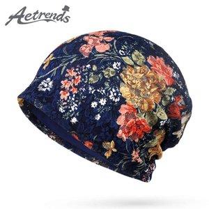 [AETRENDS] 2020 automne dentelle florale Chapeaux Bonnets pour femmes Femme Slouch Caps Bonnet Z-5346
