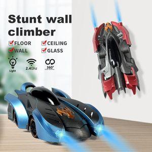 Kızılötesi RC Duvar 360 ° Rotasyon, Dazzle renk ışıklar, Doğum günü hediyeleri childr için cam Car, tırmanın Dublör Araba Oyuncak, Elektrikli Emme Tırmanma