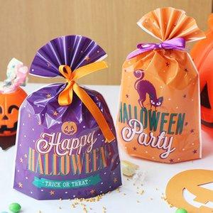 20pcs 할로윈 선물 가방 쿠키 사탕 가방 비닐 봉투 스낵 비스킷 베이킹 포장 축제 파티 할로윈 장식
