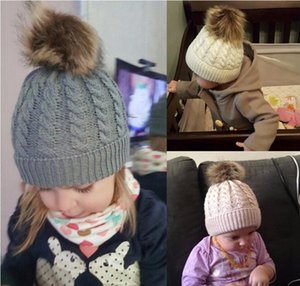 Kids Designer Beanies Autumn Winter Newborn Baby Warm Knitted Beanies Big Double Ball Wool Hats Infant Toddler Venona bbyLsK lg2010