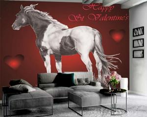 Классические 3D обои Dreamy Love White Horse 3D обои гостиная спальня стены Wallcovering HD обои