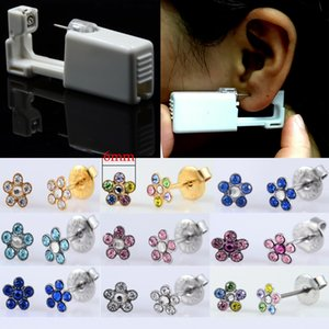 1PC Daisy Flower Sterlised Disposable No Pain Ear Nose Piercing Device Machine Tools Ear Piercer Sterile Bezel Tool Machine