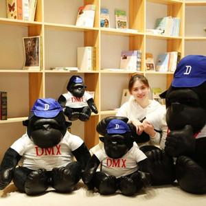 모자 재미있는 착용 스포츠 킹 사이프 콩 침팬지 인형 봉제 장난감 소년 선물을주는