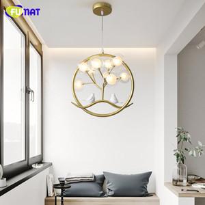 FUMAT Bird cage ring chandelier Lamp Nordic Design Tree Branch Chandelier Indoor home Kitchen Dining room Restaurant halo chandelier