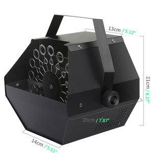 Discount 25W AC110V Mini Bubble Machine easy to carry Stage Lighting for Wedding   Bar   Stage Black Bubble Machines