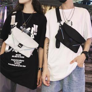 Petit sac à bandoulière unique Sac à bandoulière HIP HOP style mobile Sacs de bandoulière Femmes Voyage Oxford Tissu imperméable réfléchissant C1103