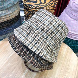 Dark Japanese Double Face Pliform Hat Corduroy Straight Pot Hat Lady Winter Vintage Warm Bucket Fisherman Hat