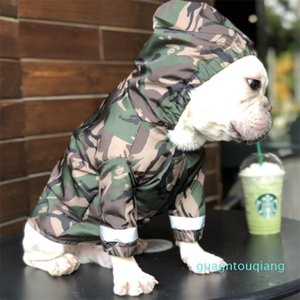 Pets Camouflage Design Raincoats Fashion Reflective Bulldog Brand Coats Outdoor Adjustable Windproof Pets Hoodies Trendy Pet Apparel New sty