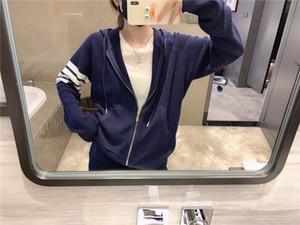bqir 2020 nova moda de gola alta manga longa logotipo carta de impressão camisola de malha women039; s e cintura harém calças elásticas de malha twinset top sui