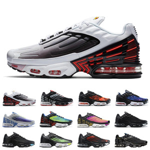 New Tuned TN Plus III 3 OG Mens Running Shoes Trainers Black White Air