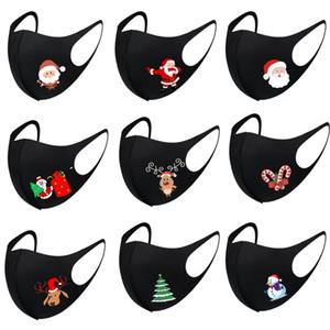 Black Christmas Mask Adult Mundmaske Raum Baumwolle Weihnachtsdeko Maske waschbar und wiederverwendbar Gesichtsmasken XD24087