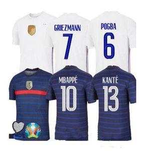 Francia 2020 maillots jersey 2021 de fútbol de fútbol maillot equipe de france 20 21 Mbappé Griezmann KANTE Pogba Tamaño s-4xl