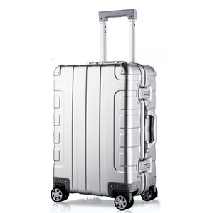 100% Aluminum alloy luggage ,20 Inches suitcase on wheels ,Carry-on trolley case