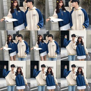 PvJyD Hooded 2020 crowd couple's dress autumn small new design loose and versatile color matching letter thin Top fashion sweater top sweater